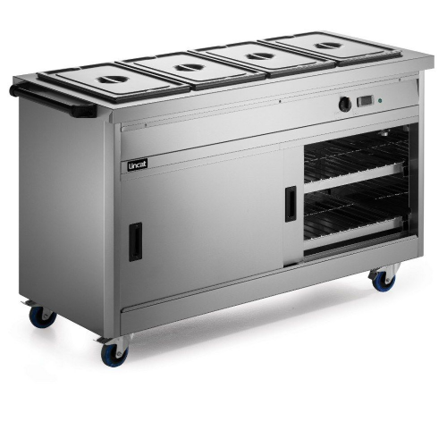 Lincat Panther P6B4 Mobile Bain Marie Top 1/1 GN Hot Cupboard